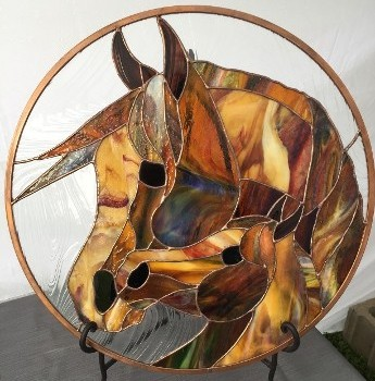 Glass Horse Plate